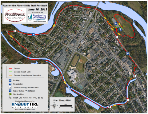 Run for the River Map