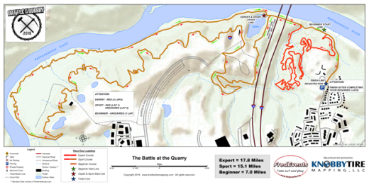 Battle at the Quarry 2018 Race Map